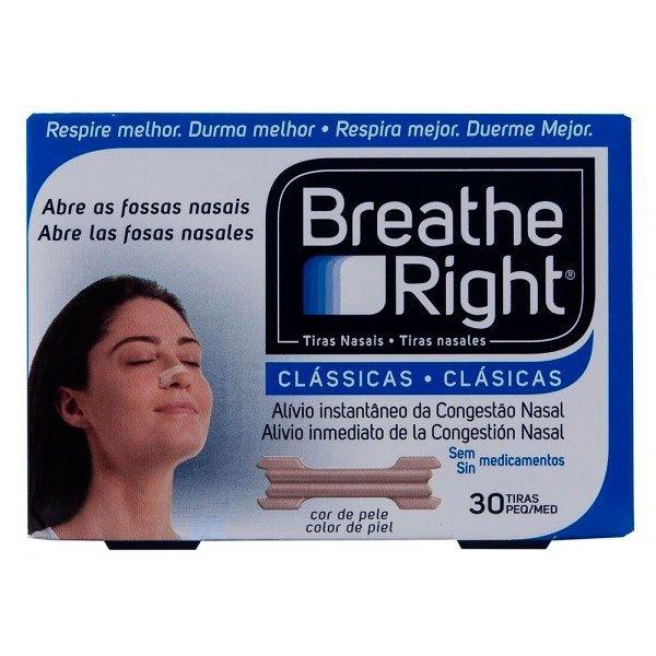 Tiras Nasales Breathe Right Pequeñas 30 Unidades