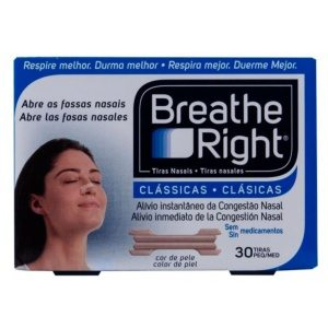 Tiras Nasales Breathe Right Grandes 30 Unidades