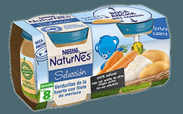 Comprar Nestlé Naturnes Verduritas de la Huerta con Filete de Merluza - Bipack 2 Uds de 200 gr 100 % Natural Sin Glúten