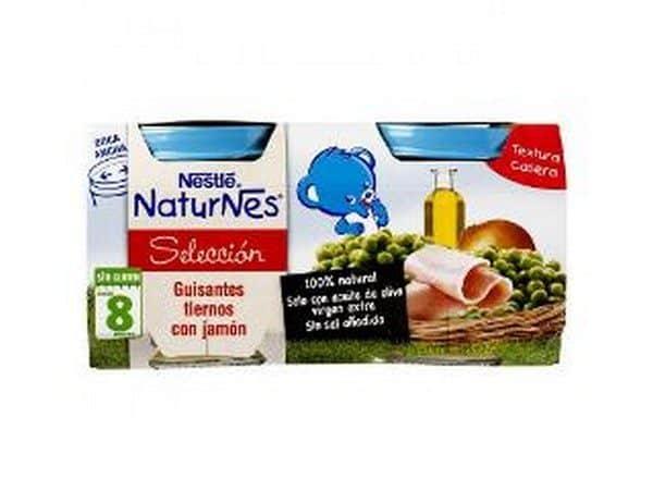 Comprar Nestlé Naturnes Guisantes Tiernos Con Jamón - Bipack 2 Uds de 200 gr 100 % Natural Sin Glúten