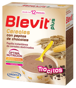 Blevit Plus Trocitos Cereales Con Pepitas Chocolate 600 Gr