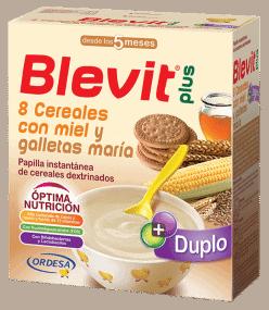 Blevit Plus Duplo 8 Cereales Con Miel y Galletas María 600 Gr