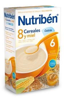Nutriben 8 Cereales Miel Calcio 300 G.