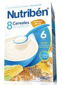 Comprar Nutribén 8 Cereales Galletas María 600 Gr