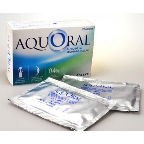 Comprar Aquoral Gotas Humectantes Oftálmicas Lubricantes  Estériles 0.5 ml 20 monodosis - Ácido Hialurónico  0.4%