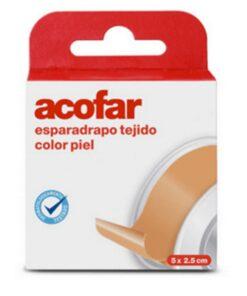 Comprar Acofar Esparadrapo Tejido Color Piel 5x2.5 cm - Botiquín
