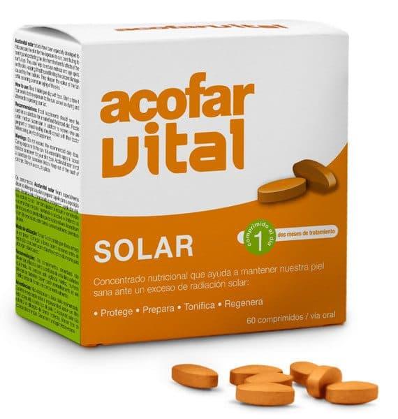 Comprar Acofarvital Solar 60 Comprimidos - Exposición Solar