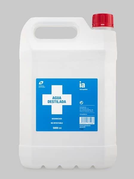 Agua Pura Destilada 5 Litro de Interapothek
