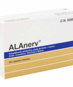 Comprar Alanerv 30 Cápsulas Blandas - Potente Antioxidante Fisiológico Contra Radicales Libres