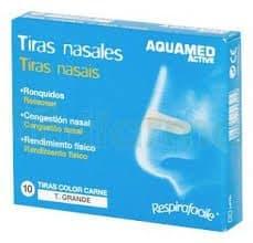 Aquamed Tiras Nasales Grandes 10 Uds - Ronquidos