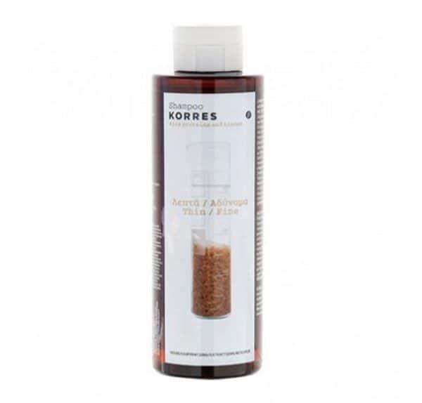 Comprar Korres Champú Proteínas de Arroz y Tila 250 ml - Cabello Fino y Frágil