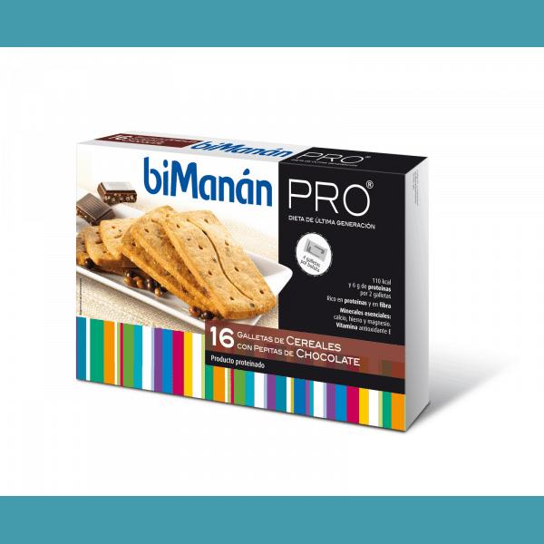 Comprar Bimanán Pro Galletas Cereales Pepitas Chocolate  200 g