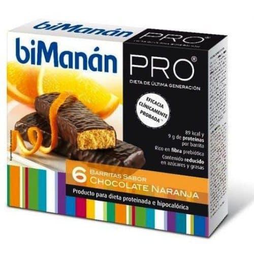 Comprar Bimanán Pro Barrita Choco Naranja 6 u x 27 g