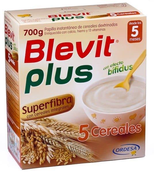 Comprar blevit plus superfibra 5 cereales 700 g papilla instant nea de cereales beb s desde 5 - Cereales bebe 5 meses ...