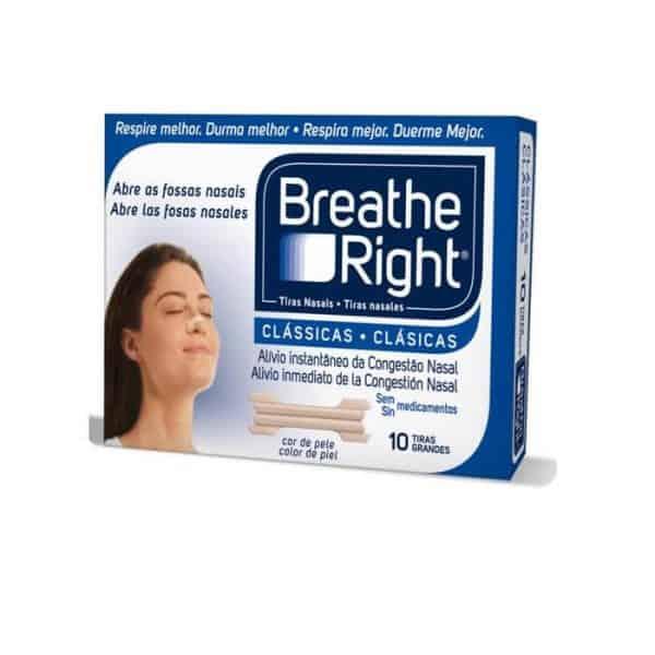 Tira Nasal Breathe Right Pequeña 10 Unidades