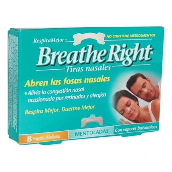 Tira Nasal Breathe Right Vapor 8 Unidades
