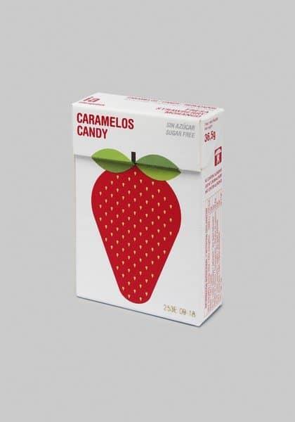 Caramelos Sin Azúcar 36.5 gr Sabor a Fresa de Balmelos