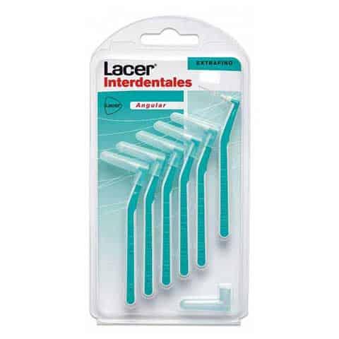 Cepillo Lacer Interdental Extrafino Angulas 6 uds - Boca completamente limpia