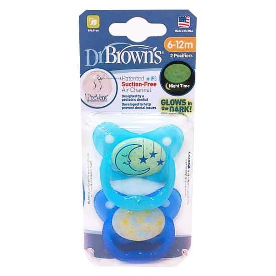Comprar Chupete Nocturno Dr. Brown Prevent Talla 2 – Chupete Ortodóntico Nocturno para Bebés de 6-12 Meses
