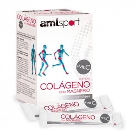 Comprar AML Sport Colágeno Con Magnesio 20 Sticks Sabor Fresa Ana María La Justicia Fácil de tomar y de buen sabor.