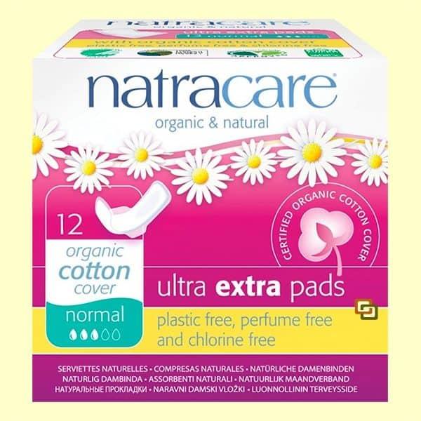 Comprar Compresa Ultra Extra Normal Natracare 12 Unidades compresas absorbentes para flujo regular o medio