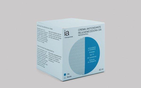 Crema Antioxidante para Día 50ml Rejuvenecedora de Interapothek - Spf 10 Antiedad con Resveratrol para Pieles Maduras