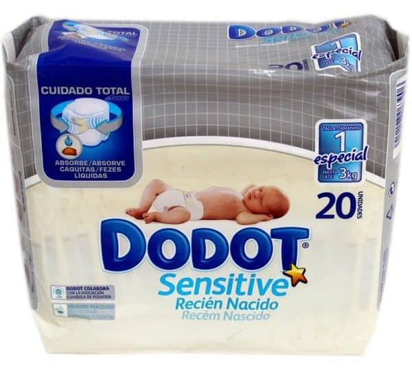 Dodot Sensitive Rec Nacido T1 2-5Kg 30 - Su Primer Pañal