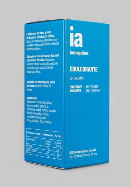 Edulcorante 500 Comprimidos de Interapothek