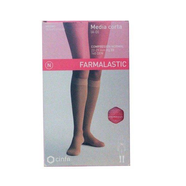 Comprar Farmalastic Media Corta (A-D) Compresión Normal  Beige