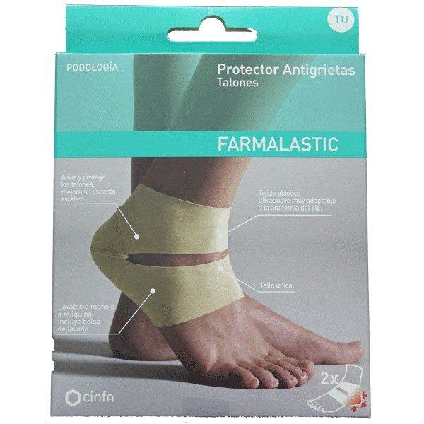 Farmalastic Protector anti-grietas para talón - Protege y alivia talones fisurados o agrietados
