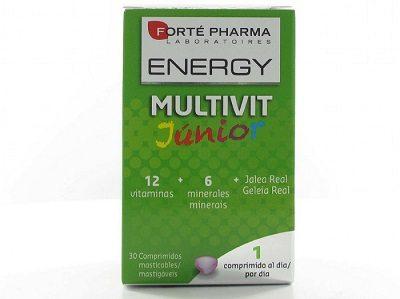 Comprar Energy Multivitaminas Junior 30 Comprimidos Masticables – Para Niños de 7 a 15 Años