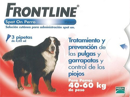 Frontline Spot On Perros 40-60 Kg 3 Pipetas