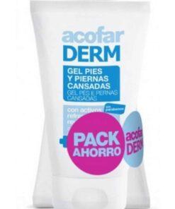 Pack Acofar Gel Pies y Piernas Cansadas 2 x 125 ml - Revitalizante y Refrescante