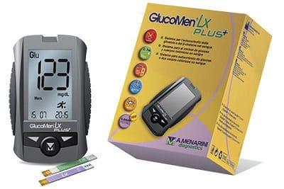 GlucoMen LX Plus+ Menarini - Medidor del Nivel de Glucosa en Sangre y Snálisis de Suerpos Cetónicos