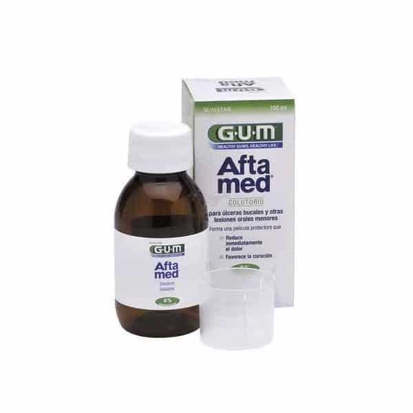 Gum Aloclair Aftamed Colutorio 100 Ml - Tratamiento Para Lesiones Bucales Menores