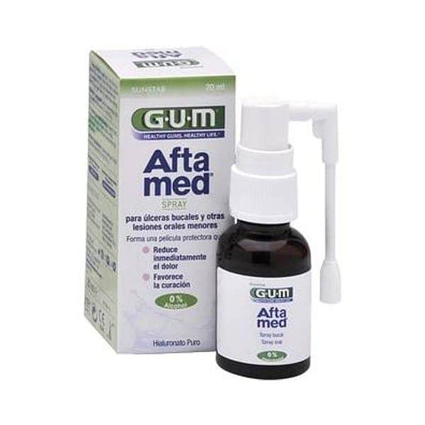 Gum Aloclair Aftamed Spray Bucal 20 Ml - Tratamiento Lesiones Menores