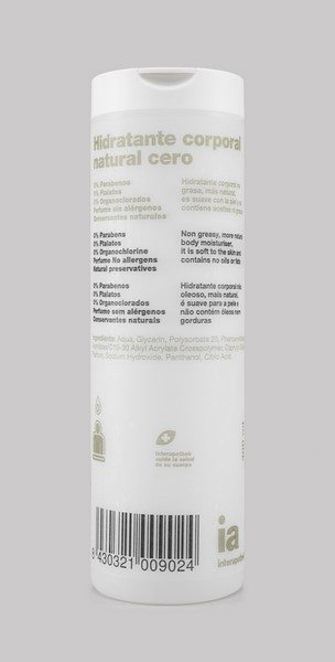 Hidratante Corporal Natural Cero 400 ml Interapothek