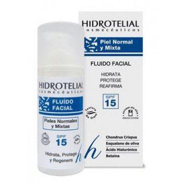comprar Hidrotelial Fluido Facial Norm/Mixta 50 ml es un fluido hidratante que reafirma
