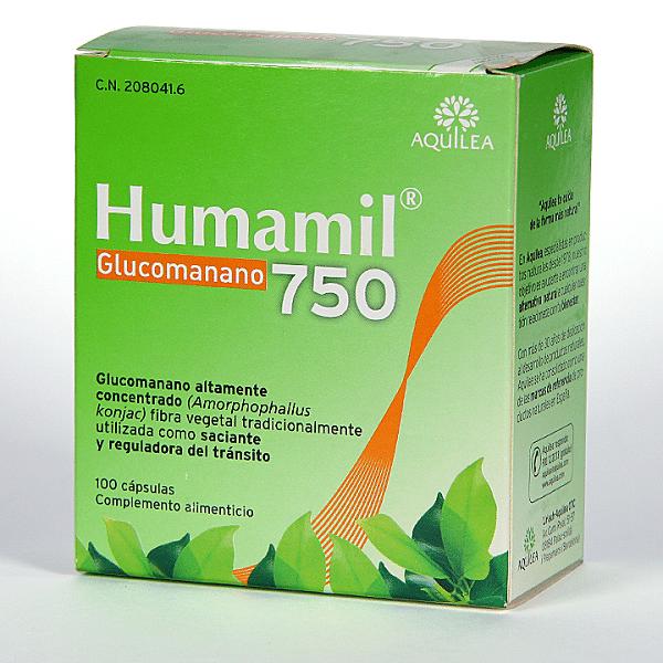 Humamil Glucomanano 750 mg 100 Cápsulas
