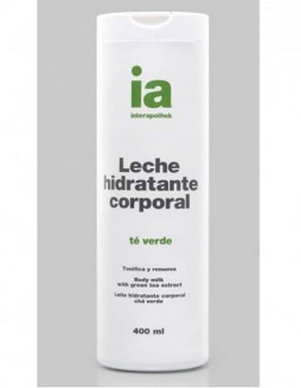 Leche Corporal Hidratante Interapothex Té Verde 400 ml - Pieles Secas Uso Diario Tonifica y Renueva