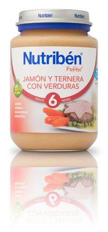 Nutribén Potito Junior Jamón Ternera Verduras 200 gr