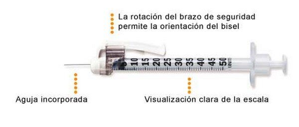 Jeringa de Insulina Escala 1 en 1 - BD Microfine+U 100 ((0