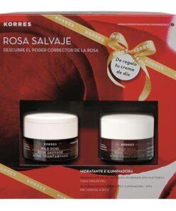 Comprar Korres Pack Rosa Salvaje para Pieles Normales a Secas- Crema de Noche y Crema de Día SPF 6