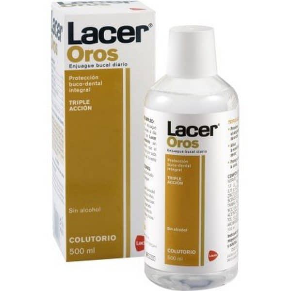 Comprar Lacer Colutorio Oros 500 ml - Para Afecciones Bucales con Flúor y Triclosán