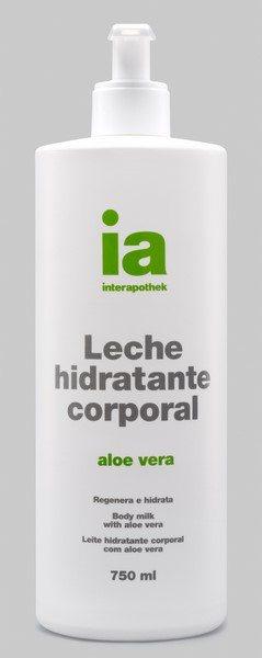 Leche Corporal Hidratante 750 ml con Dosificador Aloe Vera Interapothek