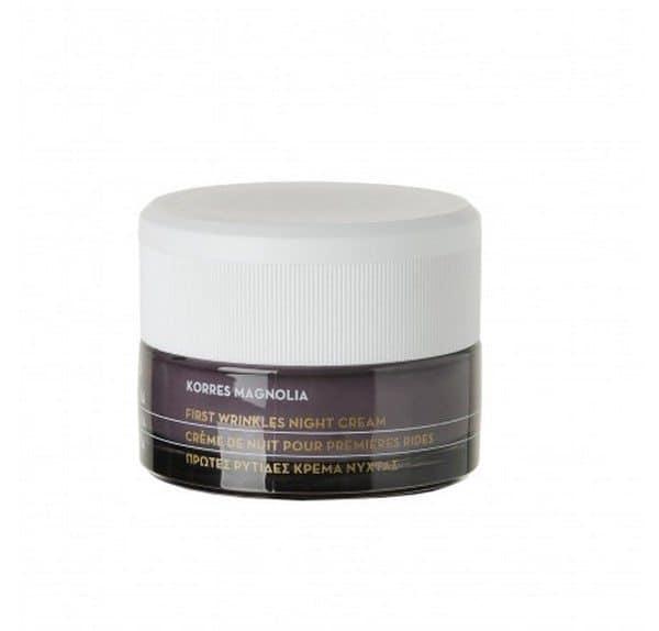Korres Crema de Noche Magnolia 40 ml - Primeras Arrugas Crema Hidratante con Protección Antioxidante para Todo Tipo de Pieles