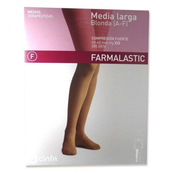 Comprar Media Larga (A-F) Compresión Normal Farmalastic Color Camel T/Pequeña. Medias cómodas adaptables a tu piel.