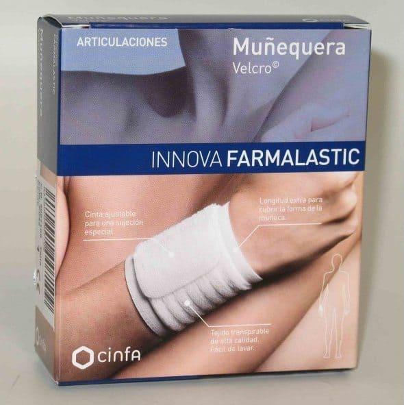 Comprar Muñequera Farmalastic Innova Velcro Beige T- Grande/ Extra Grande alivia el dolor causado en las articulaciones de la muñeca.