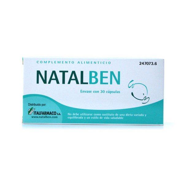 Comprar Natalben 30 Cáps - Cubrir los Requerimientos Nutricionales durante el Embarazo