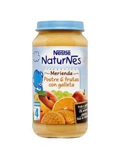 Comprar Nestlé Naturnes Merienda Postre de 6 Frutas con Galleta
